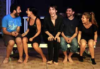 Five students in Istanbul Laughing